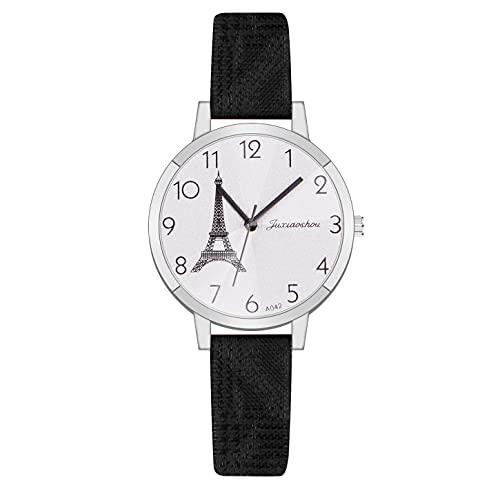CXJC Reloj Deportivo de Cuero + aleación de señoras, Reloj de Cuarzo Digital de dial Redondo de 35 mm, una Variedad de Colores Disponibles (Color : F)
