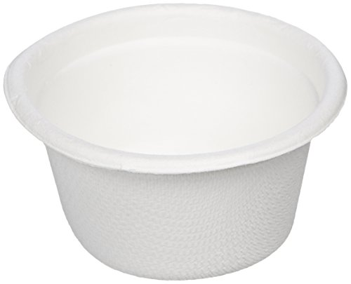 Amazon Basics Disposable Sample Food Cups, Eco-Friendly Compostable and Biodegradable, 59 ml, Pack of 1000