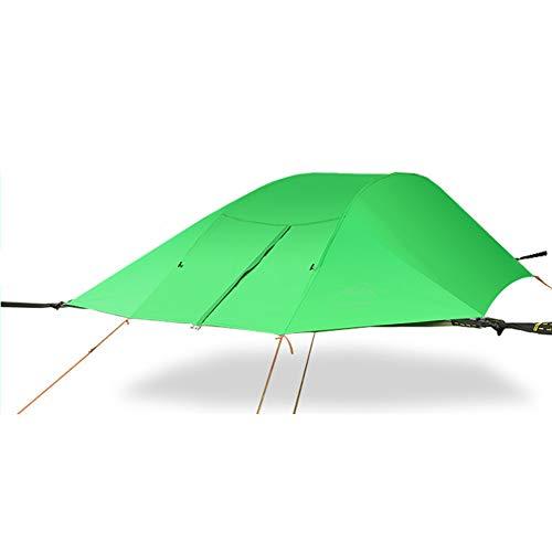 wisstin Tree Tent Baumzelt, 2-3 Personen Aus Dem Bodenzelt Campingzelt Im Freien HäNgematte,3 × 3 × 1 M,Dreieck Wasserdicht Uv