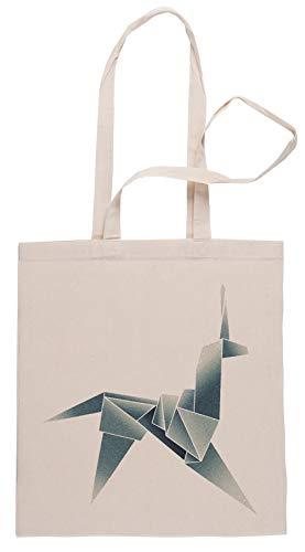Rundi Origami Unicornio Bolsa De Compras Shopping Bag Beige