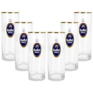 Gaffel Kölsch Bier Glas Gläser Set - 6x Stangen 0,4l geeicht