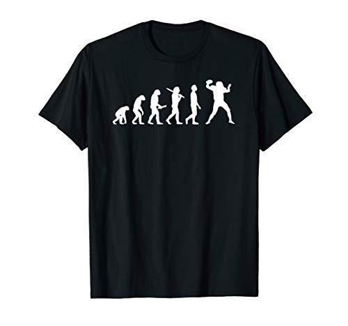 American Football Evolution Geschenk für Football Spieler T-Shirt