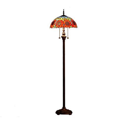 ACwhisper Lámpara de pie europeo Tiffany pastoral dormitorio salón creativo lámpara de pie personalidad elegante lámpara de pie