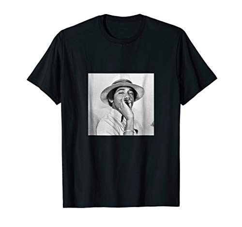 Barack Obama Smoking in College | Vintage Young Obama Tshirt