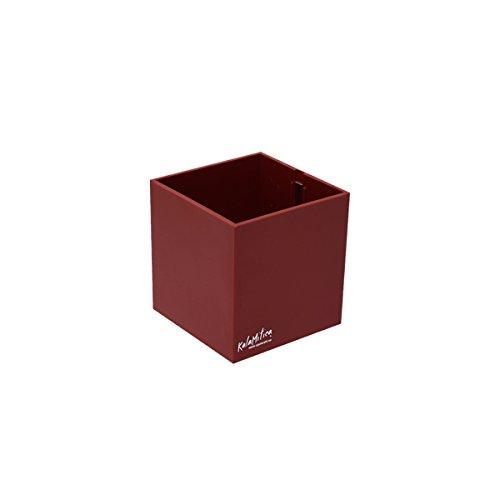 KalaMitica 60019-201-001 Récipient Magnétique Cube, Résine Abs, Couleur Rouge, Dimension 9,5 cm