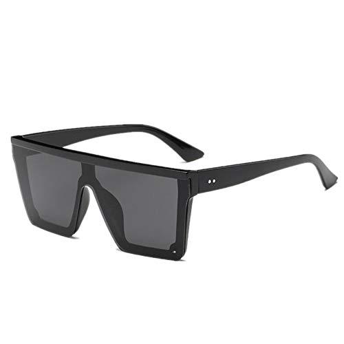 MOJINGYAN Sonnenbrillen Männermode Flache Sonnenbrille Herren Schwarz Transparent Quadrat Schatten Uv 400 Sonnenbrille Herren Cool EIN Designer