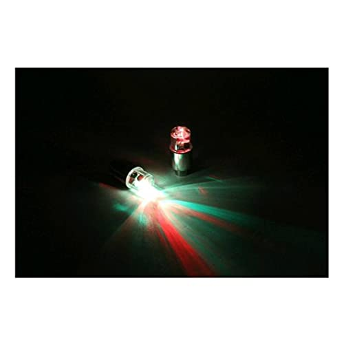 M-JJZX 4 stücke Motor Radfahren Fahrradreifen Reifenventil wasserdichte LED Auto Fahrrad-Rad leuchtet (Color : Red)