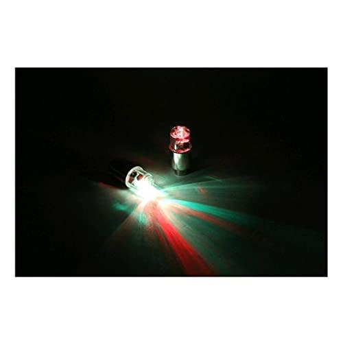 M-JJZX 4 PCS Motor Ciclismo Bicicleta Neumático Neumático Válvula Impermeable LED Coche Rueda de Bicicleta Luces (Color : Red)