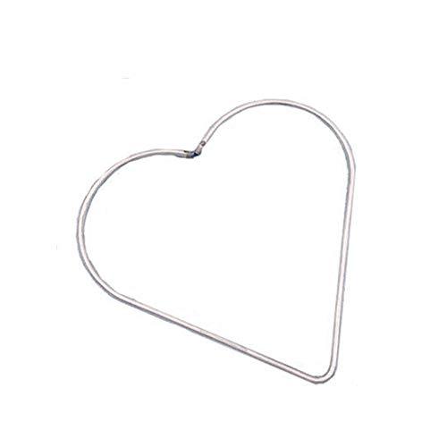 Cerchio in metallo a cinque punte, decorazioni a cerchio per decorazioni a forma di cuore, fai da te in metallo saldato (120 mmLove Heart)