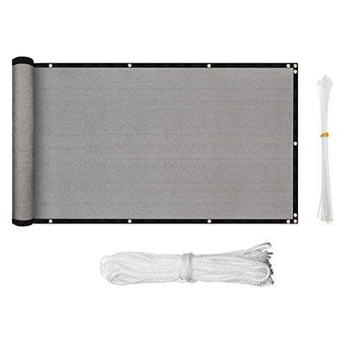 BBABBT Pantalla de privacidad para balcón, patio, terraza, porche, protección UV, protección solar 95% (500 x 90 cm)