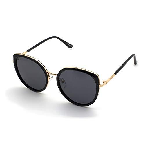 PERXEUS CANNES - Gafas de Sol para mujer. Ligeras y Resistentes - Protección UV400 + Lentes Polarizadas. [Gafas Negras]