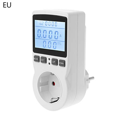 VIccoo Digitale power meter stekker EU/VS/UK stekker energiemeter stroom spanning watt kosten Mess Monitor Power Analyzer stopcontact - EU