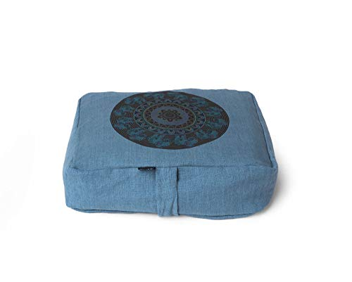 Pure Metta - Cojín de meditación con diseño de elefante Mandala ZAFU (puf de almohada)...