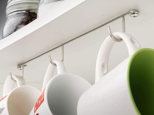 Vardesign Pack x3 Colgador Multiusos 3 Ganchos Soporte Bajo Balda del Mueble, Armario de Cocina, Estantería de Garaje, para Tazas y Tazones Desayuno, Corbatas Mascarillas Cinturones o Herramientas