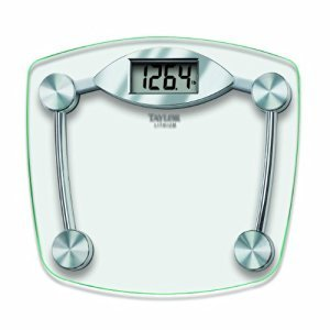 Taylor 75064192 13' X 14.5' High-Tempered Glass Platform With Chrome Accent Base Digital Scale