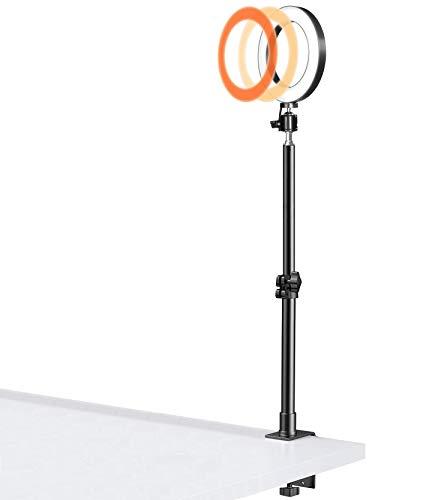 Luz de juego para escritorio, luz de transmisión con soporte de abrazadera de escritorio para Twitch