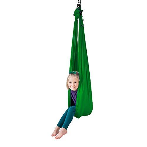 LHHL - Hamaca de yoga para principiantes y profesionales (color: verde, tamaño: 100 x 280 cm)