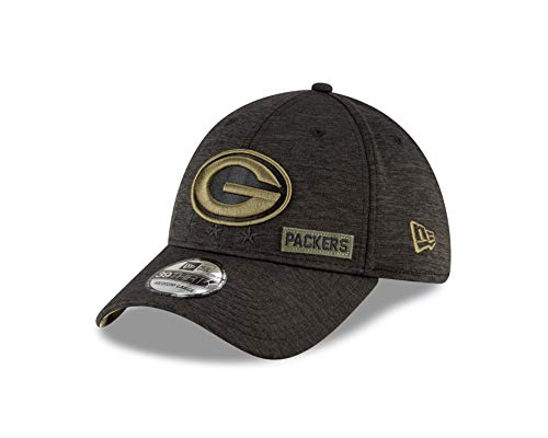 New Era Green Bay Packers - 39thirty Cap - Salute to Service 2020 - Black - M - L