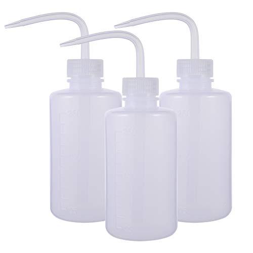 miuse Pflanzen Wasser Blume des Frischen Flasche Transpartent Spritzflasche Waschen Squeeze Flasche Waschflasche Kunststoff Quetschflaschen Squeeze Bottle Sprühflasche für Pflanzen 250ml 3 Stück