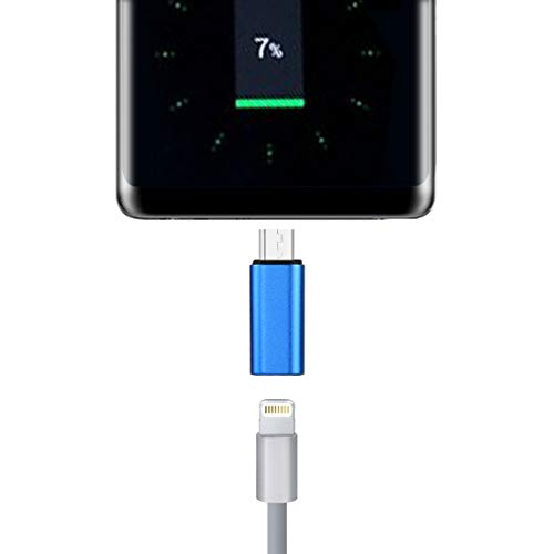8 Pin Hembra a USB-C/Tipo-C Adaptador de cáscara de Metal Masculino, para Galaxy S8 & S8 + / LG G6 / Huawei P10 y P10 Plus/OEPLUS 5 / XIAOMI MI6 y MAX 2 y Otros teléfonos Inteligentes Alta qualità