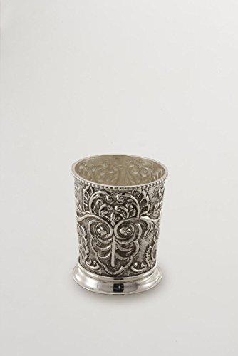 ROYAL QUEEN Porte-cuillère en métal argenté Rond cod.5313967 cm 13,5h diam.11 by Varotto & Co.