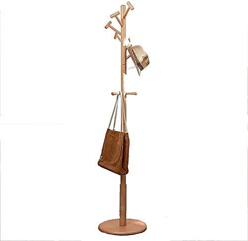Percheros Sombrero- Perchero Ropa de vestiadora Colgando Rack Stand Soporte de pie de pie Rack de árbol de Navidad Piedra de pie Rack con estante para chaqueta Umbrella Ropa Sombreros Bufanda y bolsos