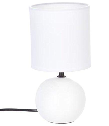 PEGANE Lampe à Poser en céramique Finition Blanc Mate - Dim : D 13 x H 25 cm
