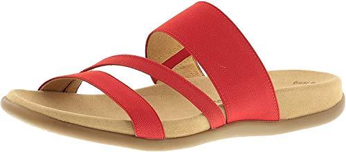 Gabor Damenschuhe 63.702.85 Damen Clogs, Pantoletten, Sandalen, mit verbreiterter Auftrittsfläche Rot (Flame), EU 41