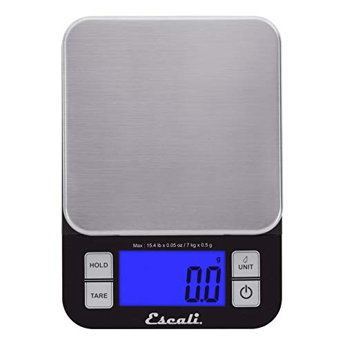 Escali SQ157B Nutro Digital Kitchen Scale,15 Pound Capacity, Black