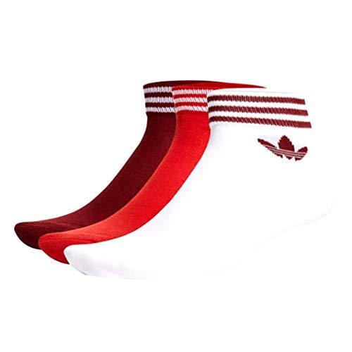 adidas TREF ANK SCK HC Ankle Socks, White/Collegiate Burgundy, 3538 Men
