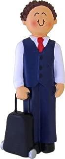Flight Attendant, Male, Brunette