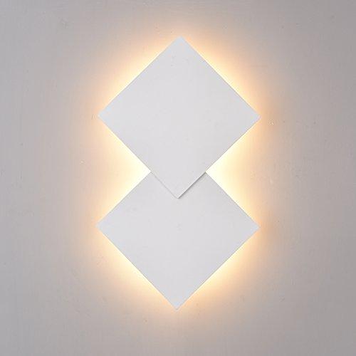 Klighten LED Wandleuchte, dekorative Wandleuchte, weiße moderne Wandbeleuchtung für Wohnzimmer, Schlafzimmer, warmweiß