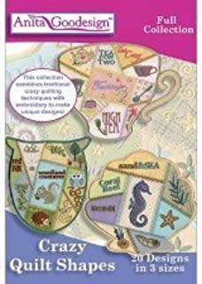 Anita Goodesign Full Collection - Crazy Quilt Shapes ~ Embroidery Designs by Anita Goodesign