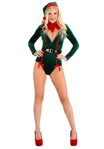 Women?s Santa Elf Costume Sexy Elf Costume for Women Naughty Santa?s Helper X-Large Green