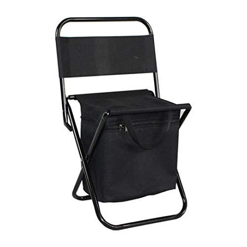 LIUQIAN Chaises de Camping Chaise Pliante extérieure Ultra légère Portable Sac de Glace Sac d'isolation en métal Tuyau en Acier Fournitures de Loisirs Chaise de Plage Retour Camping Tabouret