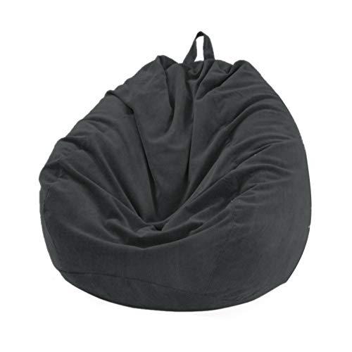 Tongdejing Sitzsack Stühle Couch Sofabezug(Keine Bohnen), Cord Lazy Lounger Sofa Sitzsack Stuhlbezug für Kinder und Erwachsene Tierlager, kein Füllstoff