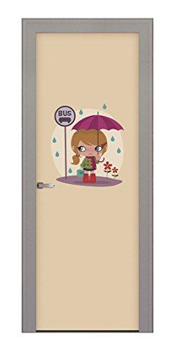 decoratieve fille-porte paraplu afbeelding 211 x 83 cm