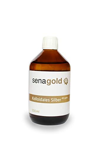 Kolloidales Silber 40 ppm (500 ml) 100% natürlich | hohe Konzentration | überwachte Laborherstellung in Deutschland (500 ml)