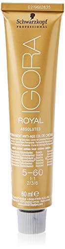 Schwarzkopf IGORA Royal Absolutes Permanent Anti-Age Color Creme 5-60 hellbraun schoko natur, 1er Pack (1 x 60 ml)