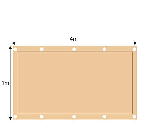 ZJDU Sonnensegel Canopy Rechteck Sand, Sonnensegel UV-Block Für Patio Garden Outdoor-Anlage Und Aktivitäten,1x4m