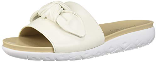 Aerosoles Women's Manicure Flat Sandal, White Leather, 10.5 M US
