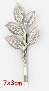 Best Quality - Hair Jewelry - 2Piece Design Leaf Hair Clip Punk Leaves Flower hairwear Hairpin Olive Branch Barrettes Bobby pin - by SeedWorld - 1 PCs