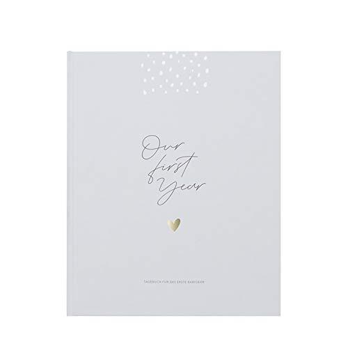 """JO & JUDY Babys Erstes Jahr""""Our first year"""" - Babytagebuch für die ersten 12 Monate - 21 x 26,8 cm"""