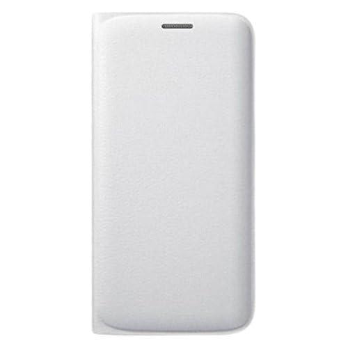 Samsung Custodia Flip Wallet in Similpelle per Galaxy S6 Edge, Bianco