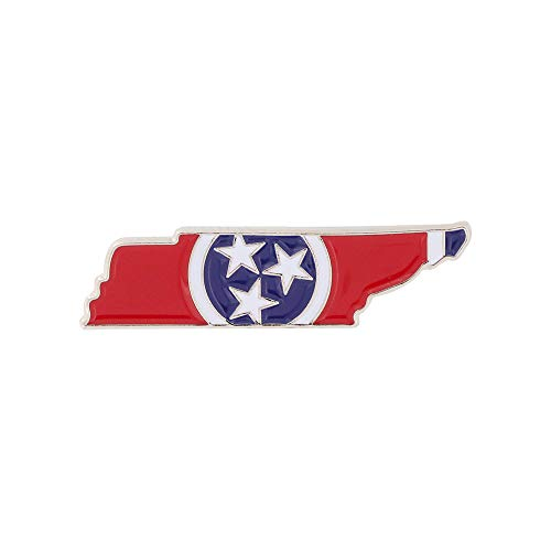 WizardPins State Shape of Tennessee and Tennessee Flag Lapel Pin– 5 Pins