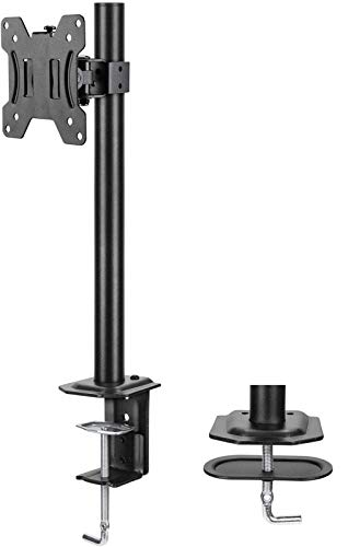 HUANUO Single Monitor Mount LCD Computer Monitor Stand for13 inch to 32 inch Screen Adjustable Height Tilt Swivel Rotation Weight up to 176lbs