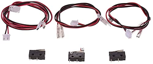 Piezas de impresora 3D Tope final Interruptores de límite de tope final Control de enchufe con cable 24AWG Interruptor de 2 pines para Anet A8 Plus Impresora 3D de escritorio Piezas de impresora Efici