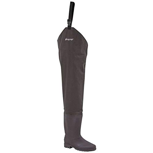 Frogg Toggs Rana II PVC Bootfoot Hip Wader, Cleated or Felt Outsole