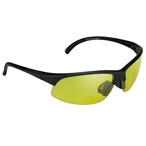 proSPORTsunglasses Semi Sin Rebordes Azul Del Bloqueador De Visión De Hd Bifocales Gafas De Sol (1.50) De Los Hombres Amarillo