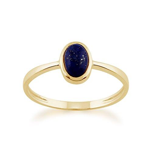 Gemondo Lapis Lazuli Ring, 9ct Yellow Gold 0.56ct Lapis Lazuli Single Stone Oval Framed Ring